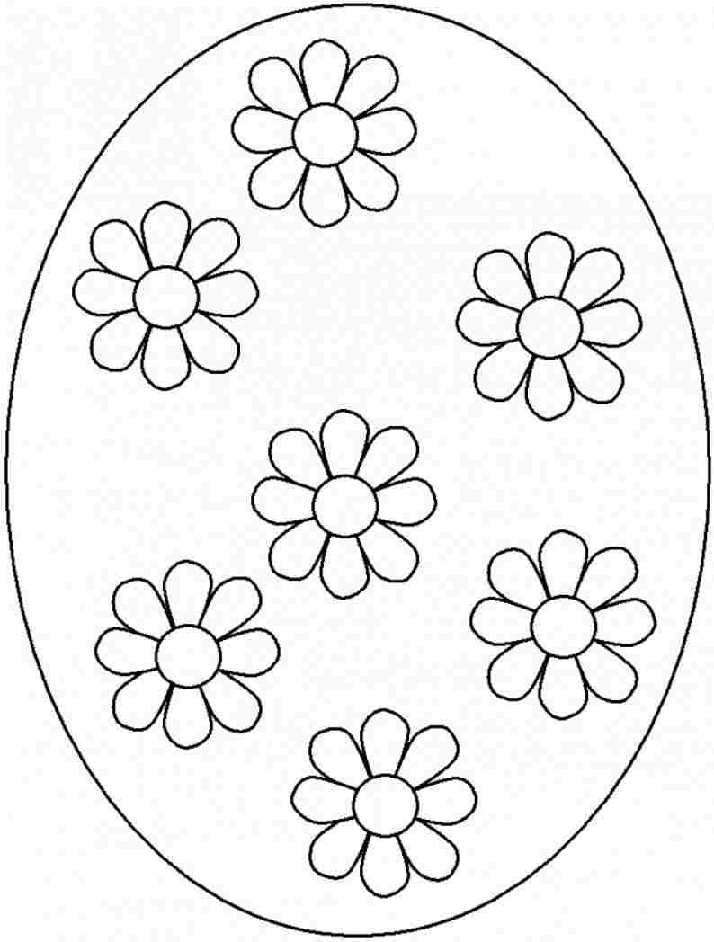 Easter eggs coloring pages - Easter Bunny Colouring Pages Printable Free For Preschool 15110