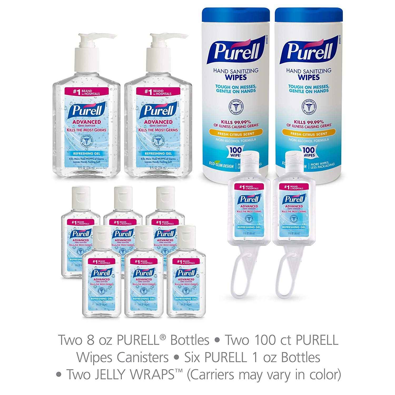 Purell 9652 K1 Advanced Hand Sanitizer And Sanitizing Wipe Kit