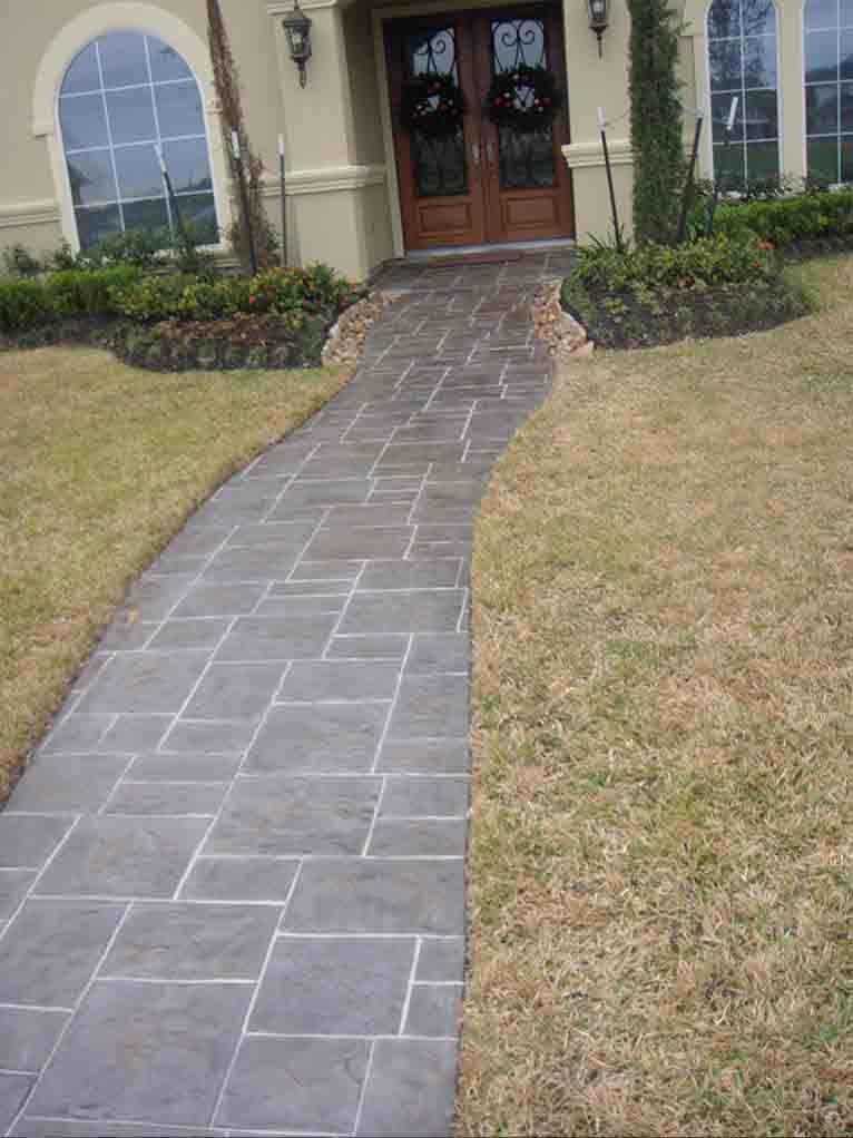 Small Ashlar Slate Increte Of Houston Backyard Projects Backyard Classic Chic