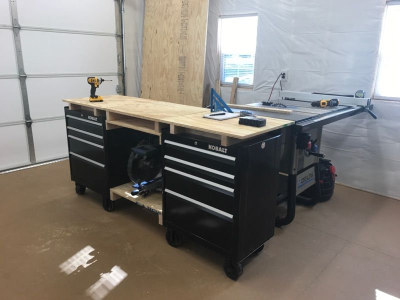 Pleasing I Built This Multi Use Workbench By Modifying 2 Kobalt Tool Spiritservingveterans Wood Chair Design Ideas Spiritservingveteransorg