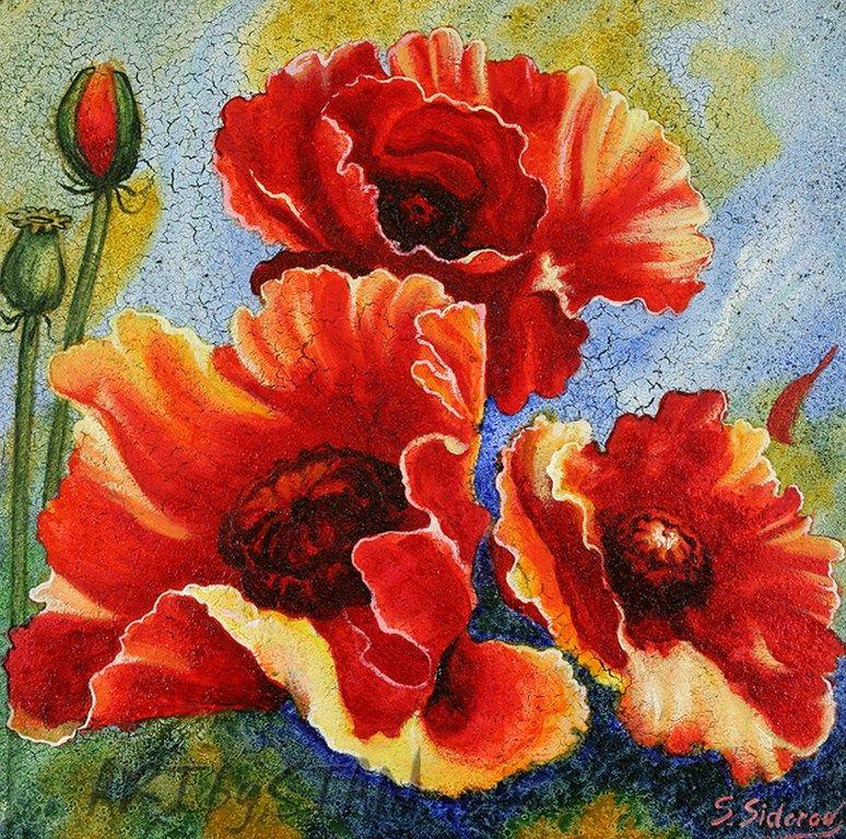 Cuadros de pinturas contemporaneas con flores memes - Cuadros flores modernas ...