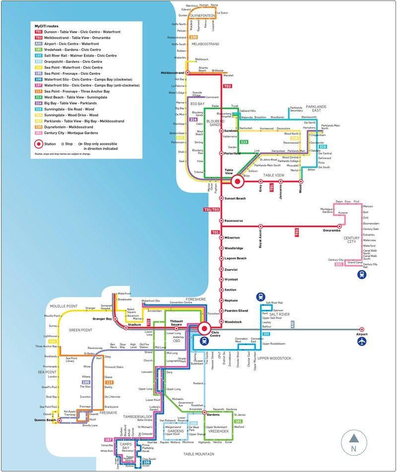 Myciti Bus routes Cape Town other Pinterest