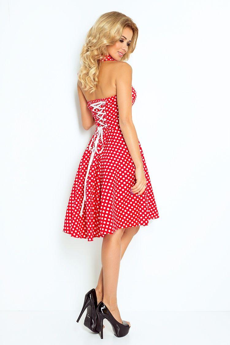 67b12a3e08 Pin up red dress with white polka dots - brand numoco - polish wholesale  company www.numoco.com