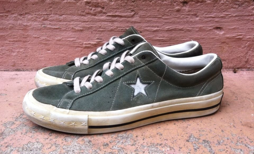 VINTAGE 90s CONVERSE One Star Suede Shoes Size 9 100