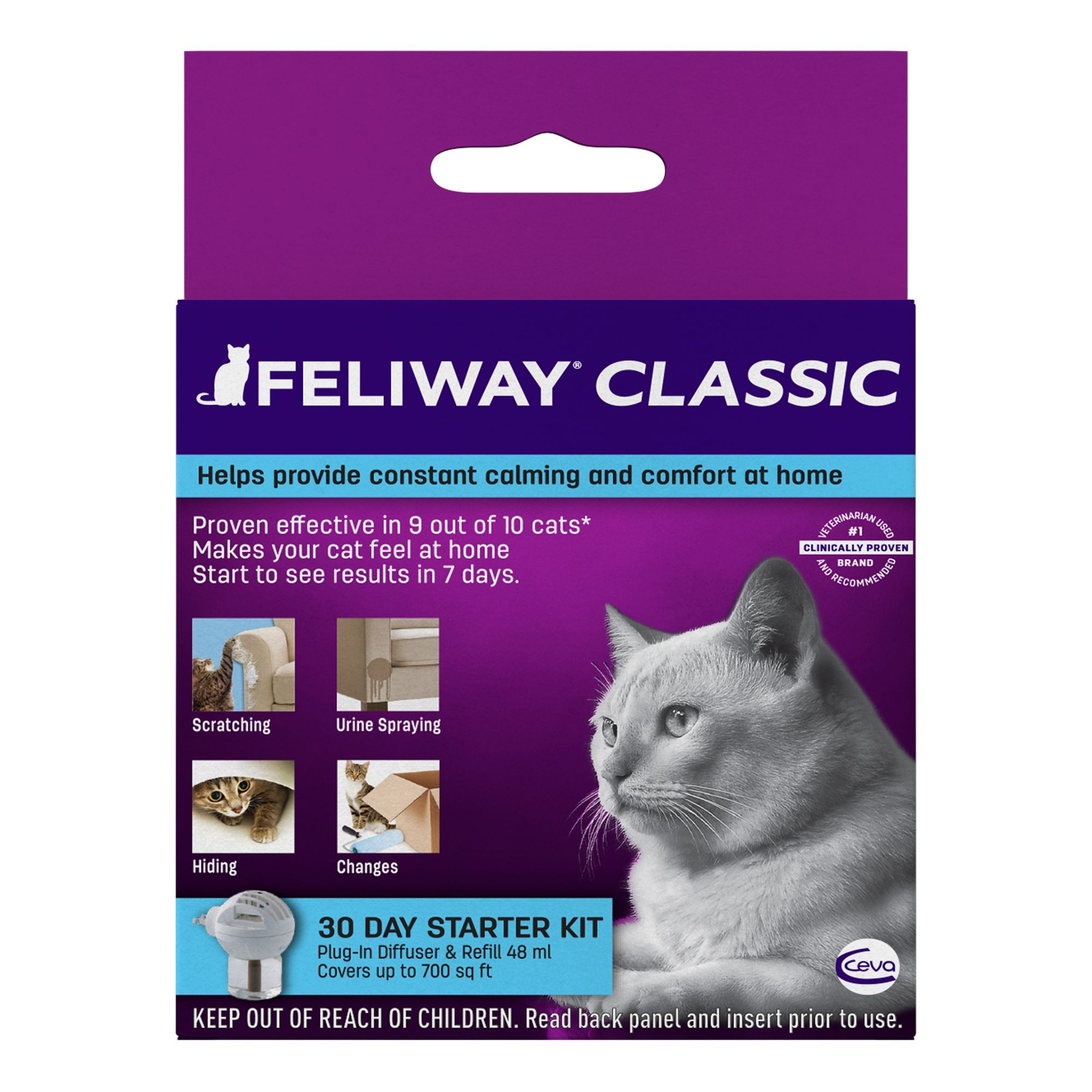 Feliway Starter Kit With Plug In Diffuser Cat Stress Relief