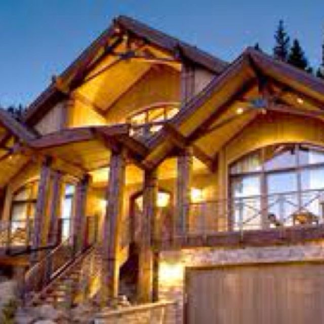 Love Log cabin looking homes. We will own one someday:)