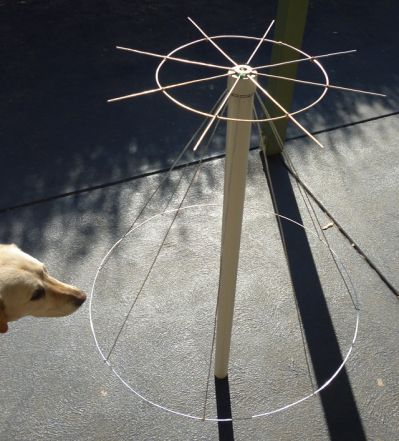 Homemade Discone Antenna for DXing with USB TV Tuner & GNU
