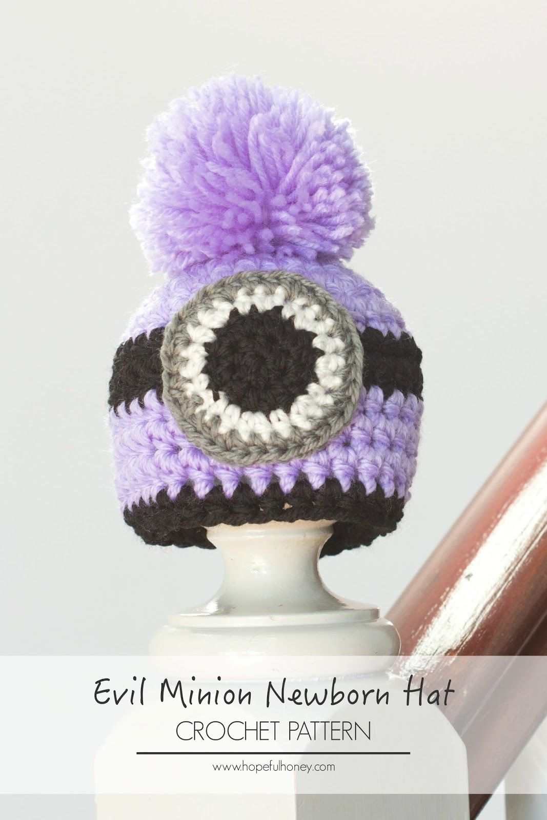 Newborn Evil Minion Inspired Hat Crochet Pattern | Pinterest ...