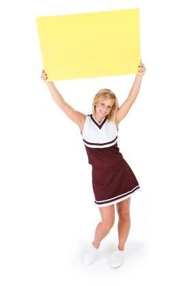 Cheerleading Poster Ideas Lovetoknow Cheerleading School Cheerleading High School Cheerleading