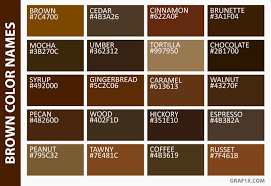 Image Result For List Of Brown Colors