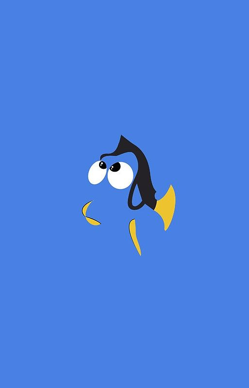 Minimalist Dory Disney Silhouettes Posters Disney Wallpaper
