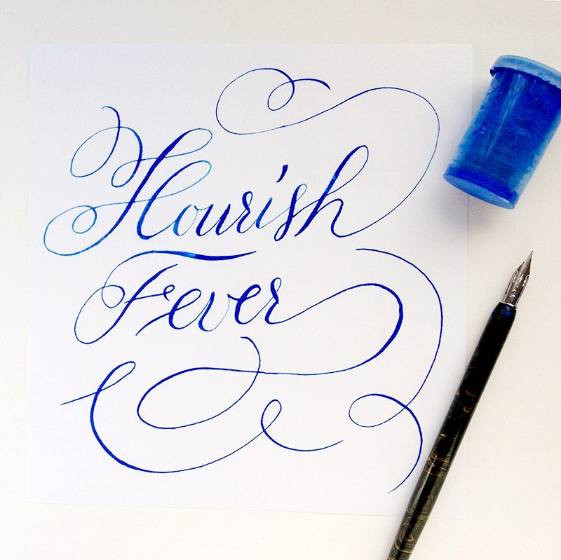 Calligraphy Flourishing Techniques Flourishes And