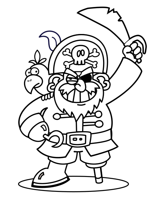 Pirate Pirate coloring pages, Pirate activities, Pirate