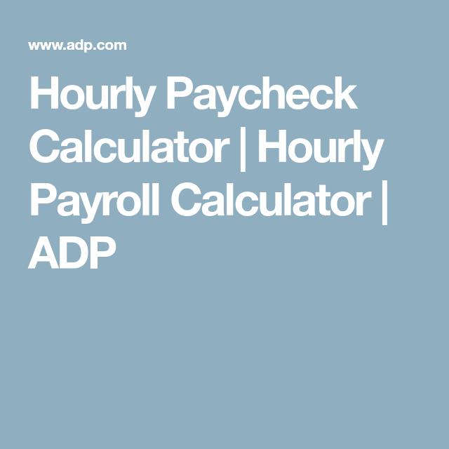 pay check calcultor