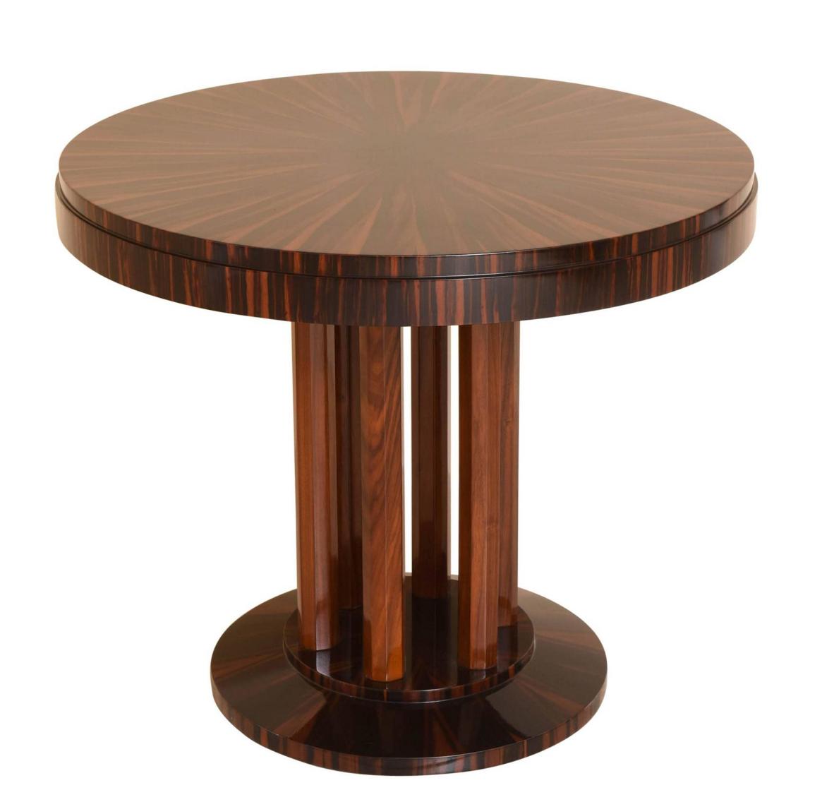 Maison rinck 1920s art deco coffee table in makassar ebony art deco coffee table geotapseo Images