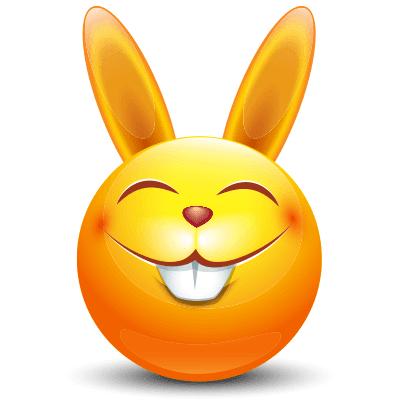 Rabbit Charm Funny Emoticons Emoticon Love Rabbit Charm