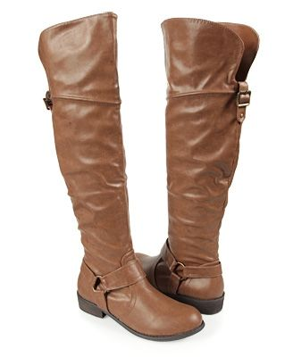 Leatherette Over The Knee Boots - StyleSays