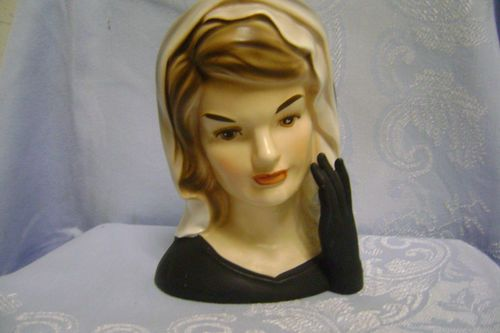 Jackie Kennedy 1964 Lady Head Vase 6 Inarco With Foil Label