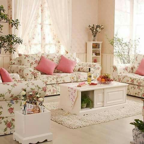 Shabby Chic Lounge, Modern Verlotterter Chic, Romantisches Shabby Chic,  Romantisches Landhaus, Shabby Chic Interieur, Romantisches Wohnzimmer, ...