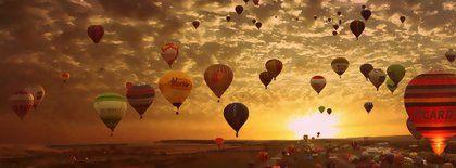 Baloes Paisagem Capas Facebook Gifs Pinterest