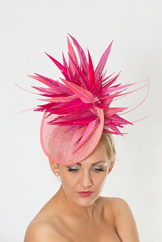 Pretty in pinks + Armani pink dress Pink Fascinator f578eb1612b