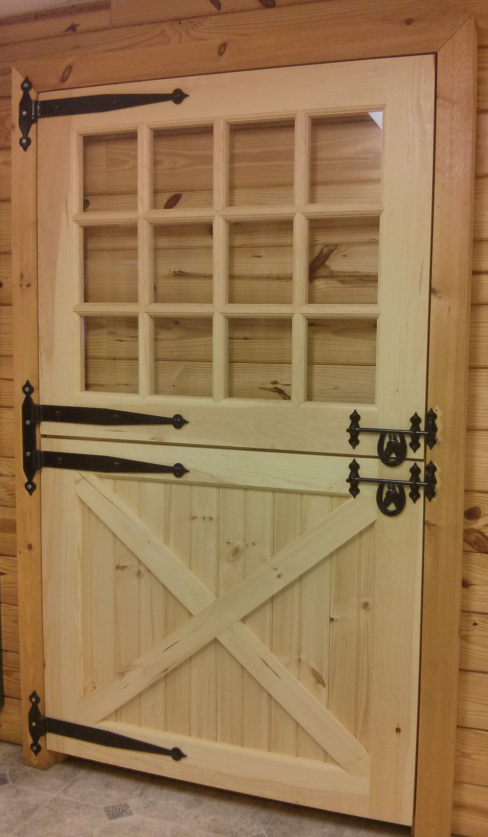 Wooden Solid Dutch Door With Window For The Home Doors