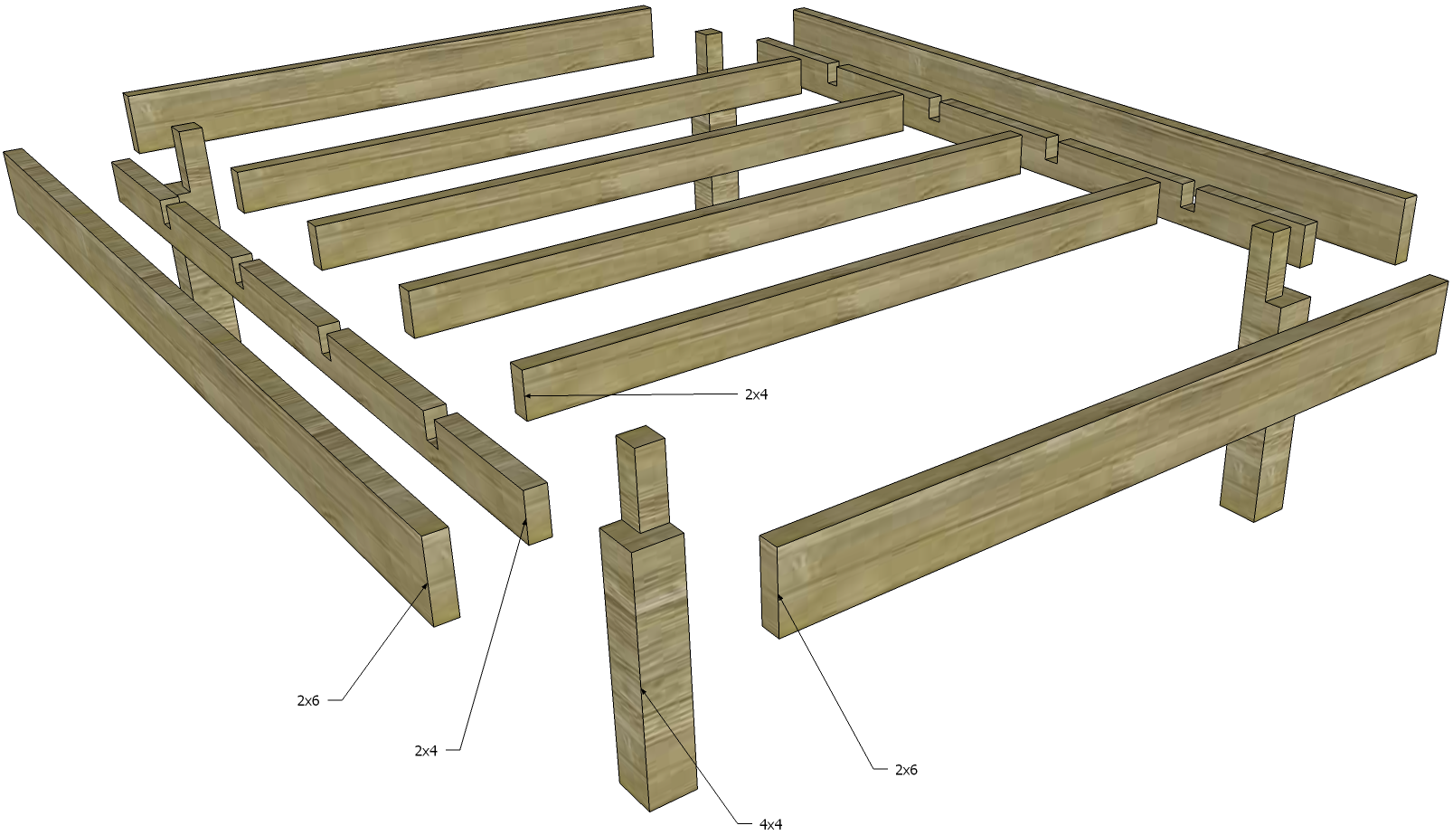 Easy To Assemble Diy Bed Frame Diy Bed Frame Easy Diy Bed
