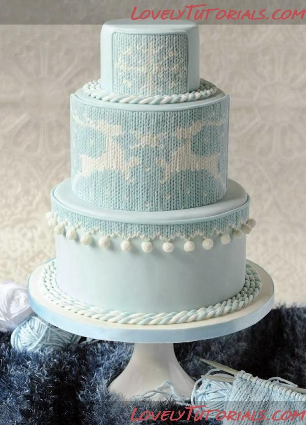 Knitting Cake Tutorial : Knitted cake tutorial decorating tutorials