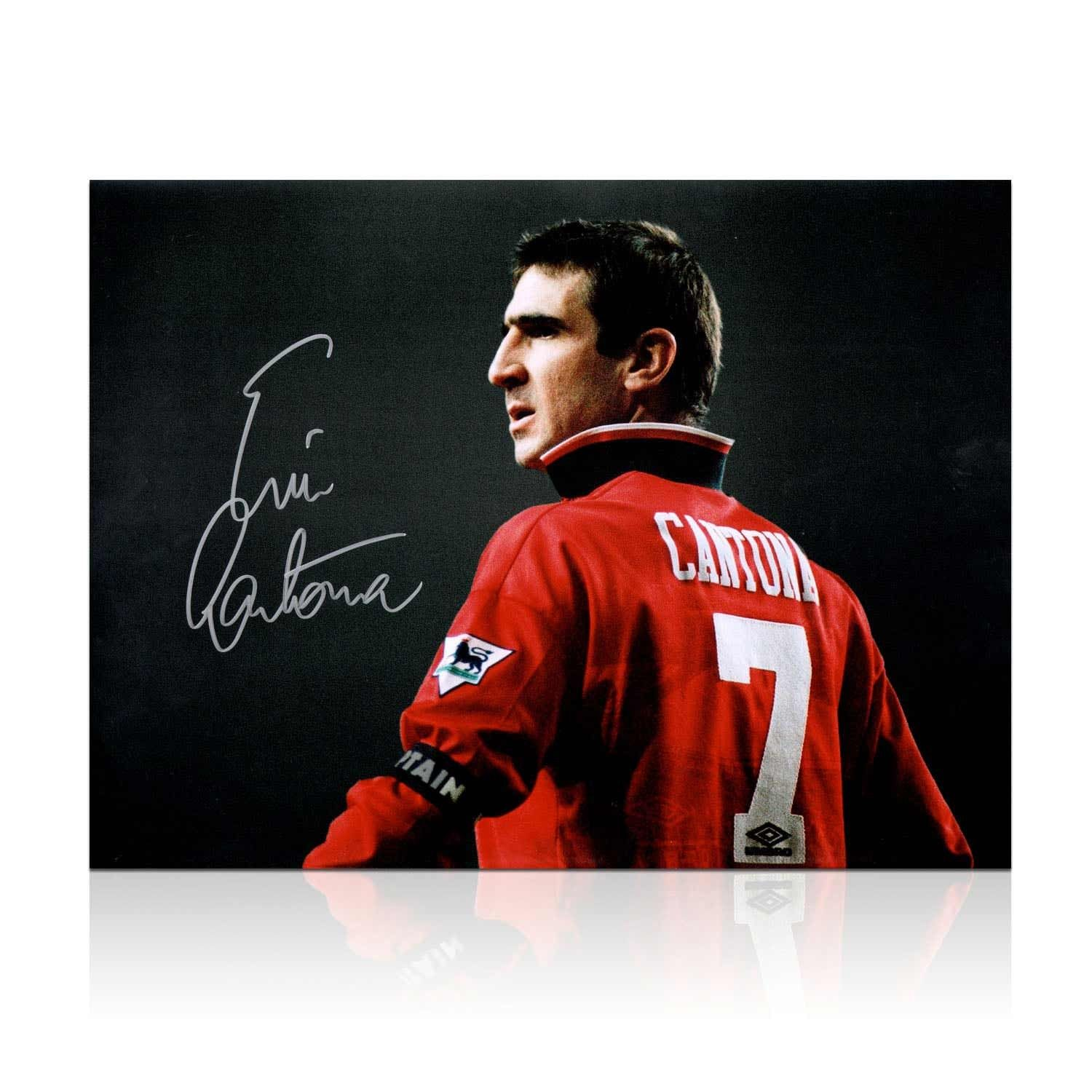 Cantona scored 70 goals in 156 premier league appearances for united, where he won the league title four times in five seasons at old. Eric Cantona Signed Manchester United Photo.   Eric ...
