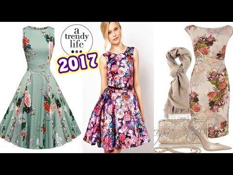 be7df4404 Vestidos Hermosos tendencia 2018 - YouTube