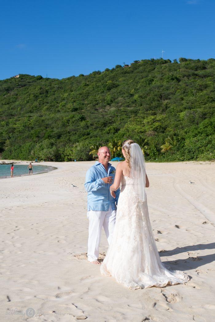 Flamenco Beach Culebra Puerto Rico Wedding First Look Session