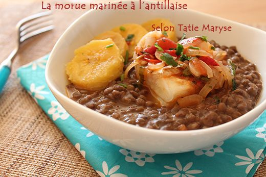Morue marin e antilles ma cuisine cr ole pinterest - Cuisine creole antillaise ...