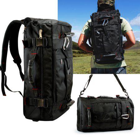 57ec82fa6e Multi Function 40L Hiking Outdoor Backpack Travel Camping Pack Duffel  Messenger Rucksack shoulders Bag -Black