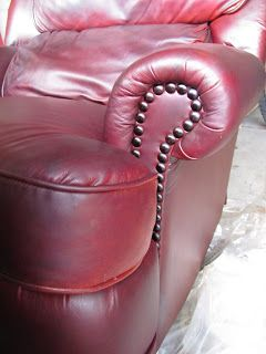 Header: Re Dye Of A Free Leather Chair Paint Leather Couch, Diy Leather