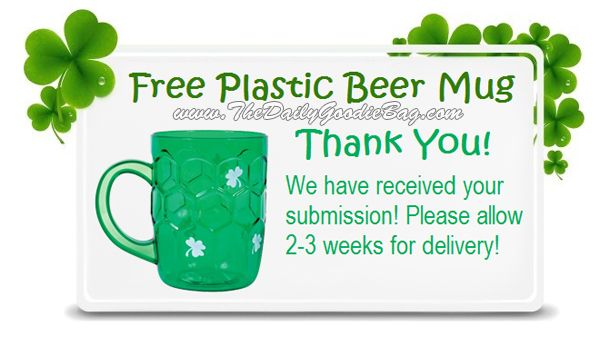 FREE St Patty\u0027s Beer Mug! No purchase or credit card needed - credit card form