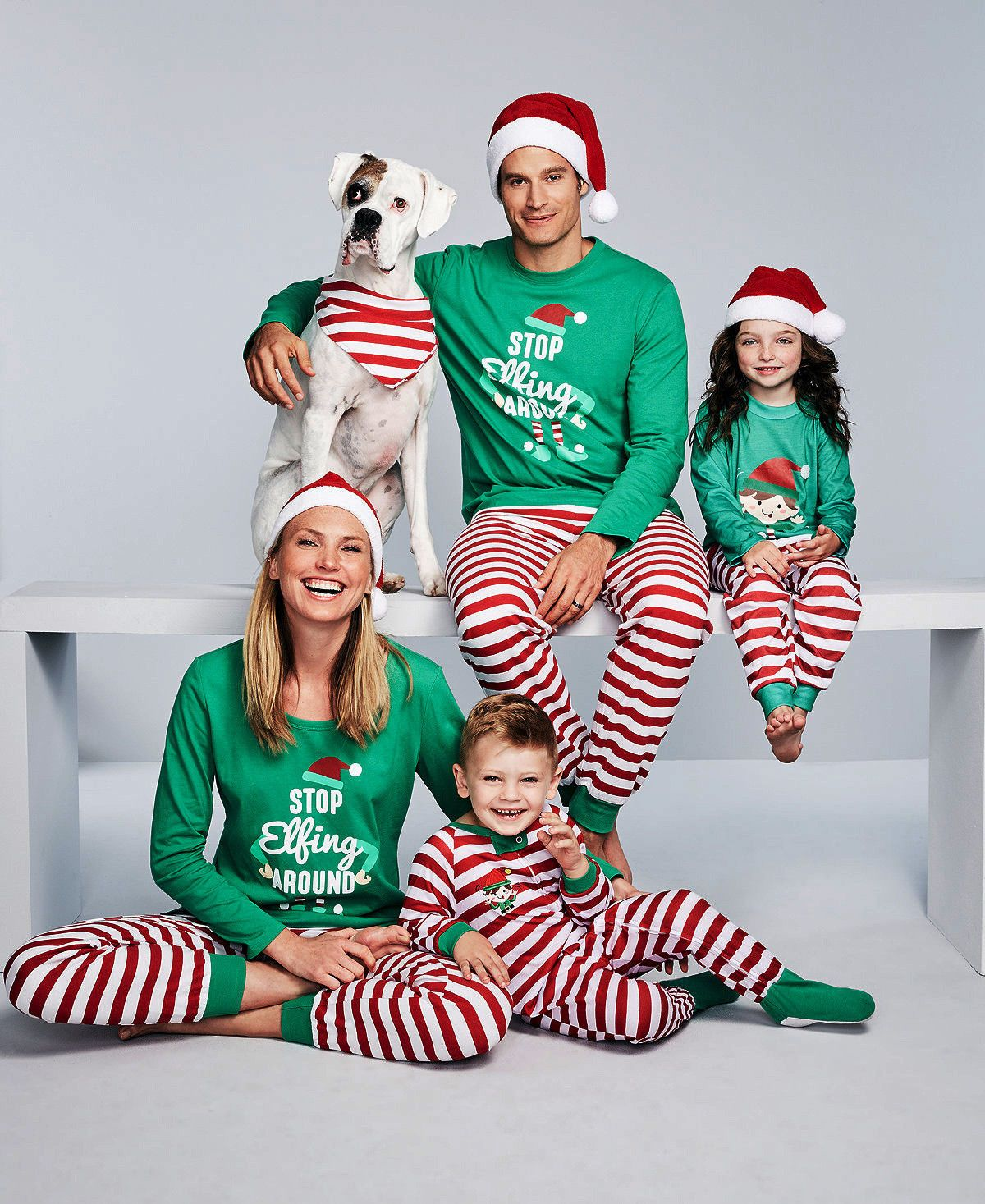 c8f9037cdf Us Family Matching Christmas Pajamas Set Women Baby Kids Sleepwear Nightwear