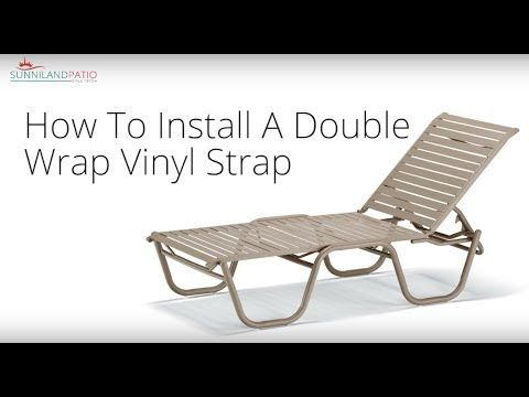 Outdoor furniture repair neednt be expensive you can do it outdoor furniture repair neednt be expensive you can do it yourself with this guide on how to wrap a double vinyl strap for your patio lounger solutioingenieria Choice Image
