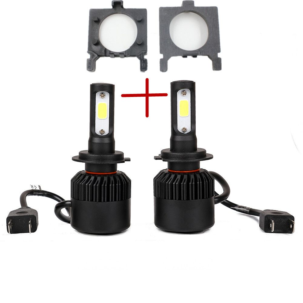 For Ford Focus Fiesta Car Styling Auto H7 Led Headlight Head Lamp Bulb Kit With H7 Led Bulb Holder Adapter So Led Headlights Cars Led Headlights Car Headlights