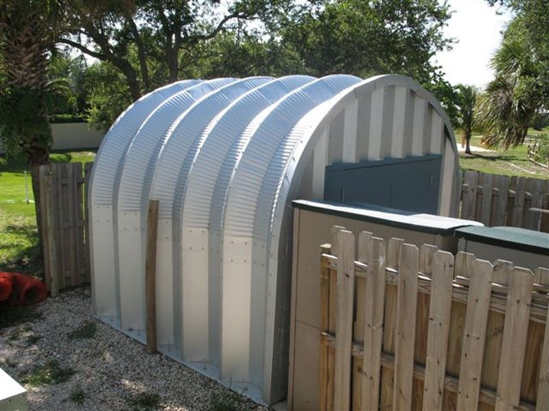 small metal shed mini quonset hut style this one is 8x12ft