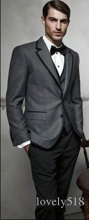 gray tux with black.pants - Google Search | Wedding Outfits ...