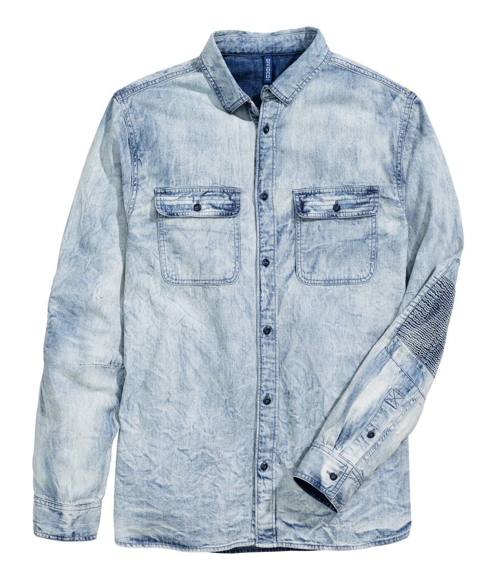 a5063954 Denim Shirt with Smocking | H&M Divided Guys | H&M MAN DIVIDED ...