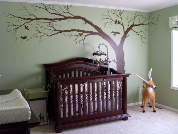 Baby Boy Nursery Deer Theme Bennys Finished Nursery - Baby boy forest nursery room ideas