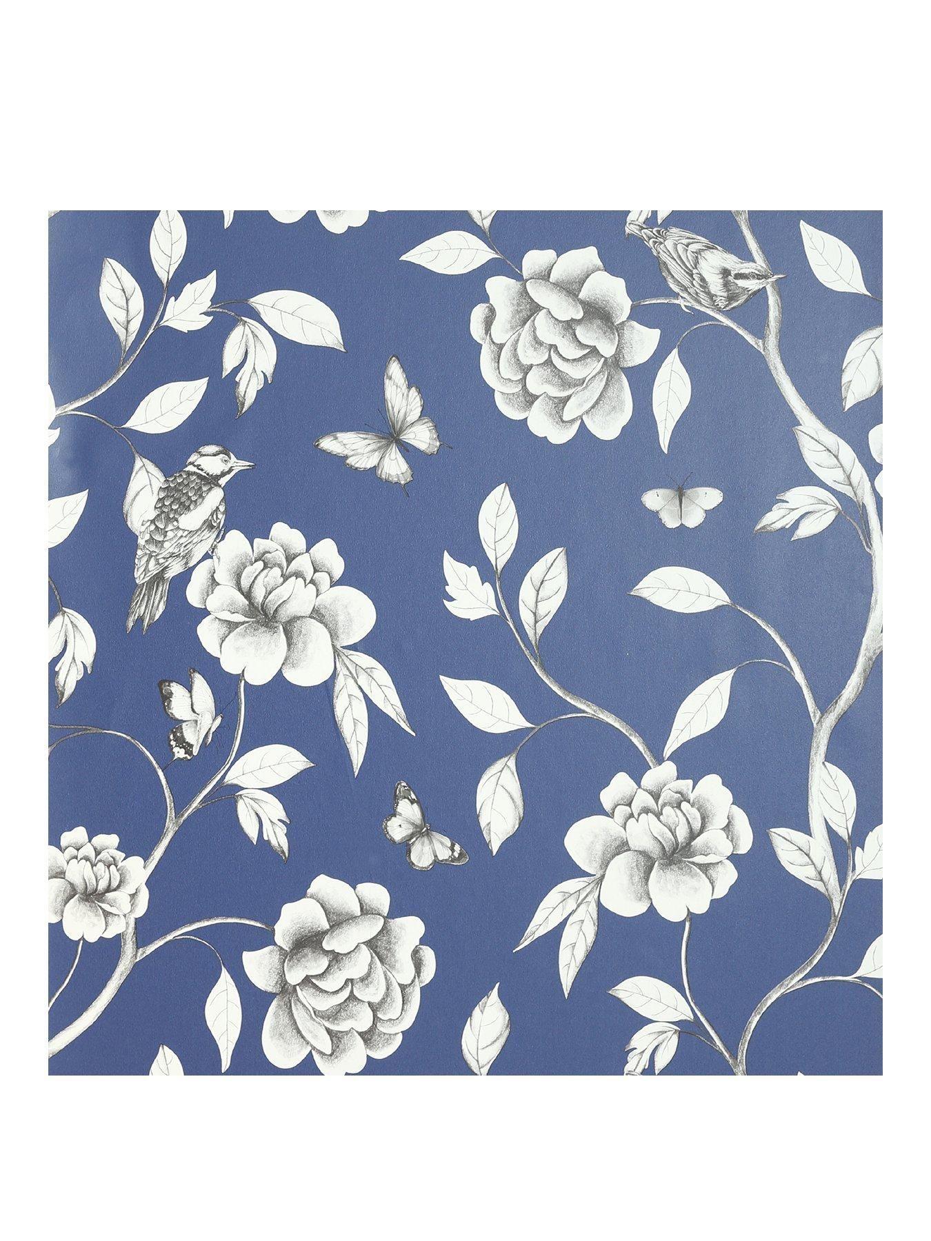 Arthouse Rose Garden Wallpaper In Blue Arthouse Blue Garden Rose Wallpaper A Arthouse Blue Bluearthouse Garden Ros In 2020 Wallpaper Home Art Rose Wallpaper
