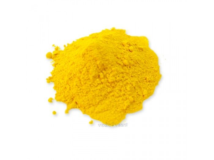VedicVaani.com | Shop haldi powder online from the best online puja store from India to worldwide at fair rates. Turmeric is considered highly auspicious in India and has been used extensively in various Indian ceremonies for millennia.Even today it is used in every part of India during wedding ceremonies and religious ceremonies.