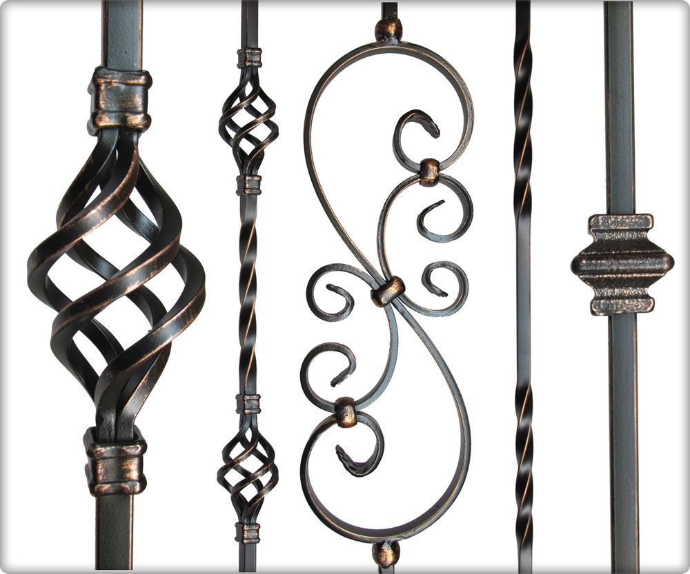 Best Iron Balusters Oil Rubbed Copper Home Garden Home Improvement Building Hardware Ebay 400 x 300