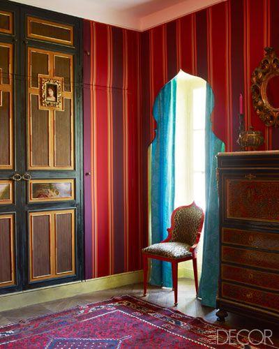 Gérard Tremolet's guest room - Elle Decor, photo Simon Upton