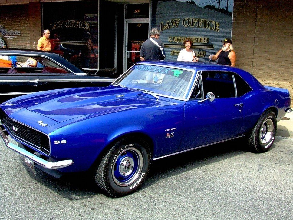 Blue 1967 Chevrolet Camaro In Downtown Cda Classicnation With