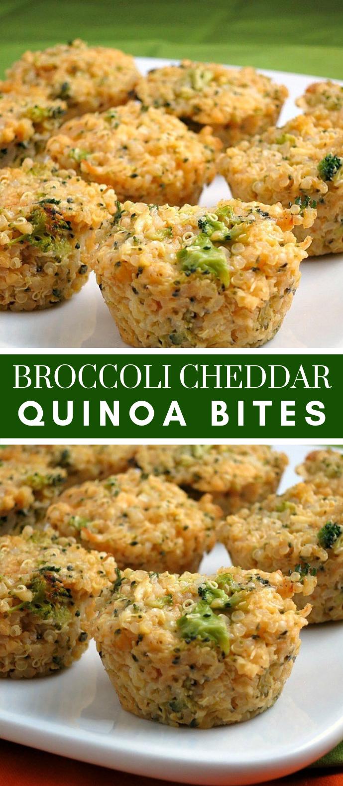 Photo of Broccoli Cheddar Quinoa Bites #gluten free #foods – recipes – #Bites #Br …