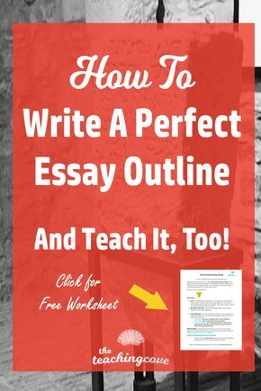 How To Write An Essay Outline U0026 Teach It, Too | Outlines, Writing Problems  And High School Students