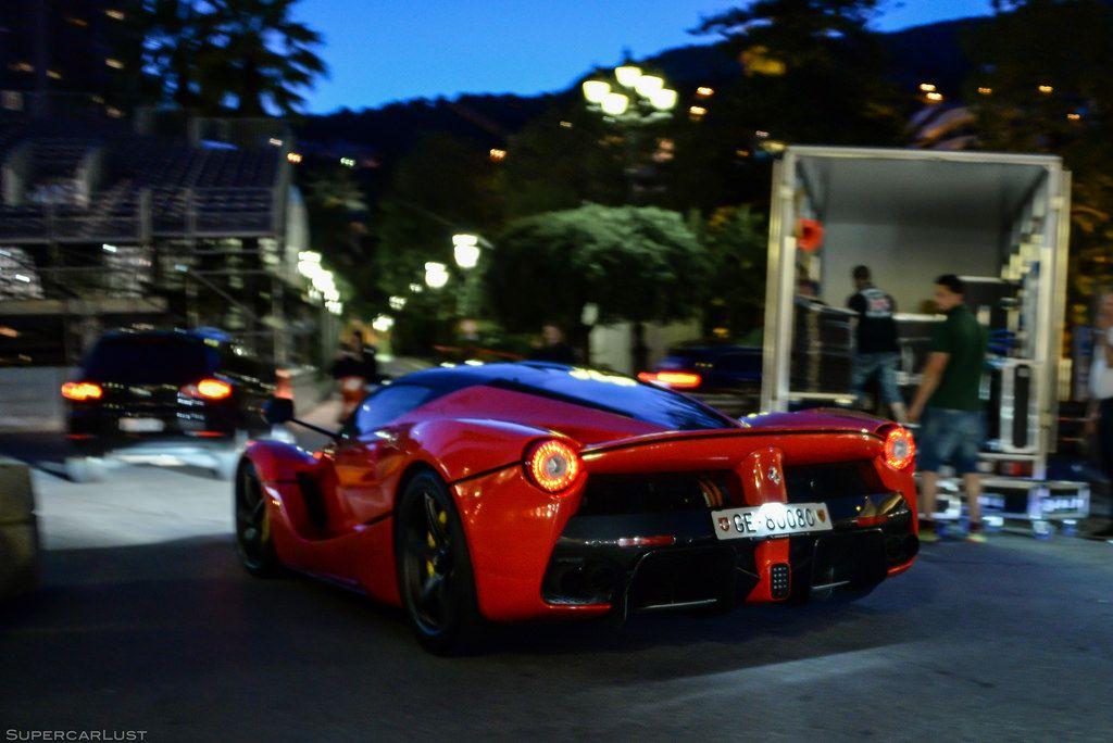 Ferrari LaFerrari cruising through Casino Square Monaco